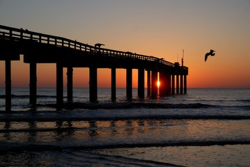 Sunrise at a fishing pier Florida, USA