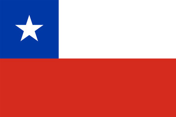 Chile flag standard proportion and colour mode RGB