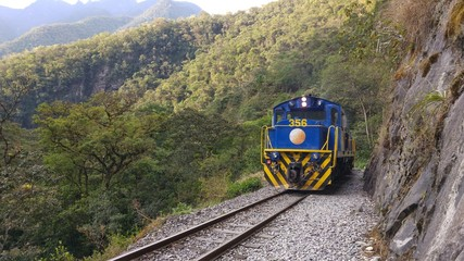 Train pour aller au Machu Picchu