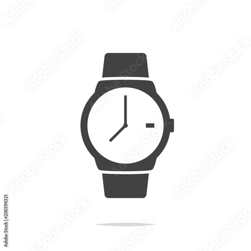 watch icon vector isolated stock image and royalty free vector rh eu fotolia com vector watch problems vector watch faces