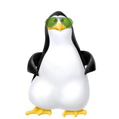 pinguino con occhiali da sole