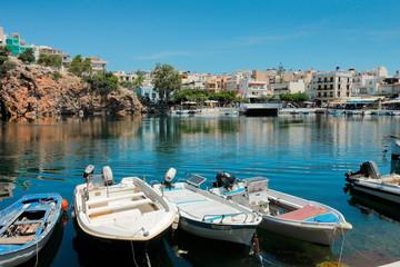 Port de pêche d'Agio Nicolaos en Crète