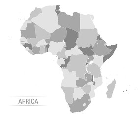Wall Mural - Vector Africa grey map
