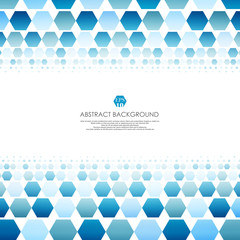 Art of blue molecules abstract background for business presentation. Soft gradient banner of technology disign.