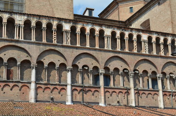 Ferrara, centrum miasta, Włochy