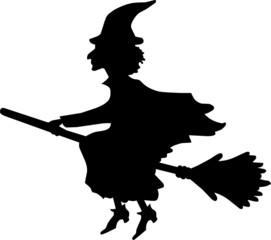 Witch Halloween Broomstick