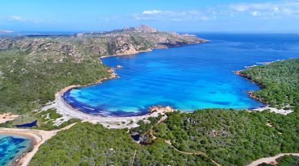 Fotomurales - Spiaggia l due mari, Caprera, Sardinien