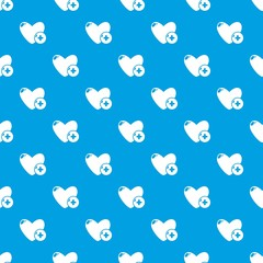 Like pattern vector seamless blue
