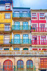 Porto, Portugal old town colorful traditional houses