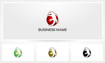 Lizard Gecko Logo