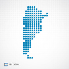 Argentina map and flag icon