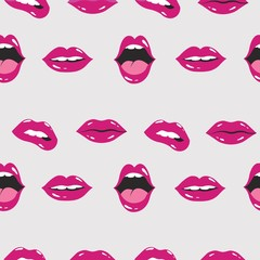 lip pattern. lip and mouth vector illustration