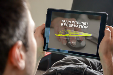 Concept of train internet reservation