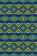 Ethnic geometric seamless pattern.