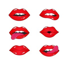 lip pattern.lips and mouth vector illustration