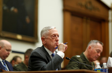 U.S. Secretary of Defense Mattis and Chairman of the Joint Chiefs of Staff General Dunford testify to the House Armed Services Committee hearing in Washington