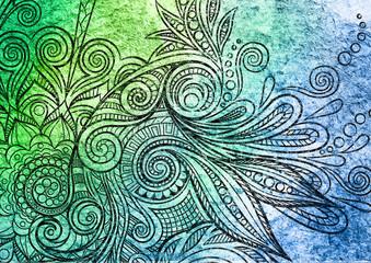 Mandala auf Grunge