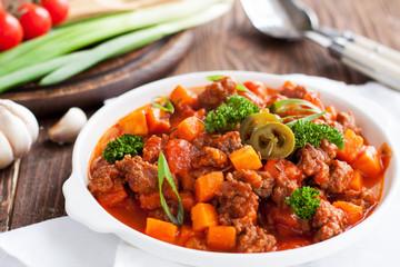 Lamb sweet potato chili