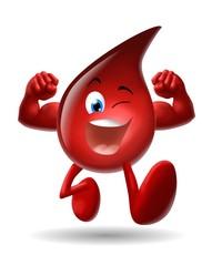 Fototapete - goccia di sangue