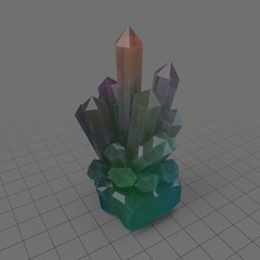 Clear crystal shards