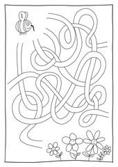 Rätselbild Labyrinth Biene