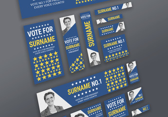 Campaign Banner Ad Layout Set