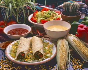 Tex Mex Food. Burritos.
