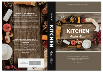 Cookbook Cover Layout with Tan Accents