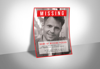 Missing Person Poster Layout