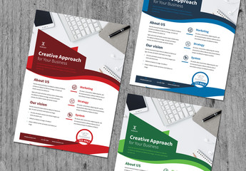 Flyer Layout with Wavy Banner Element