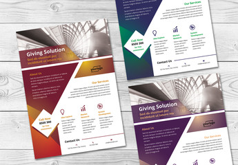 Flyer with Geometric Elements