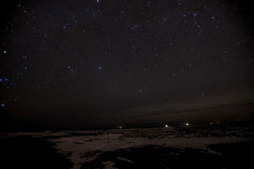 The magnificient night sky in Iceland