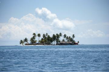 Isla, paraíso, edén, puesta de sol palmeras, Guna Yala, Kuna Yala, San Blas, Panamá, Caribe
