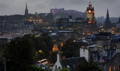 Edinburgh skyline at night from Calton Hill