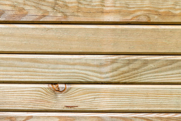 Background of treated wooden slats for exteriors