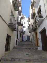 Peñíscola, localidad de la Comunidad Valenciana, España, situado en la costa norte de la provincia de Castellón, en la comarca del Bajo Maestrazgo