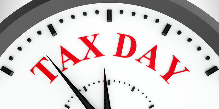 Clock dial tax day #2