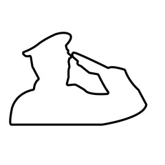 saluting soldier outline on white background, wearing hat