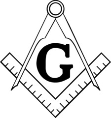 Freemasonry Ruler and Compasses