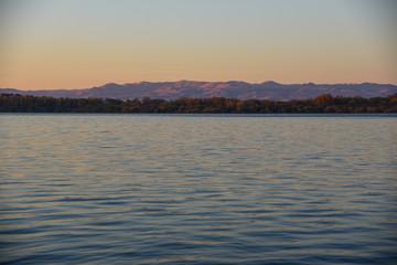 sunrise, lake, lakeside sunrise, alpine glow, blue hour, Idaho, landscape