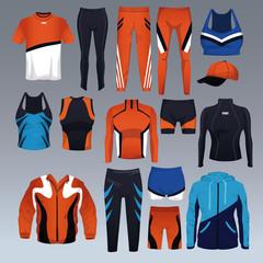 Set of sport wear collection vector illustration graphic design