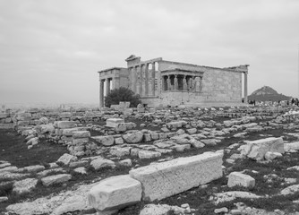 Temple on the Acropolis in Athens Greece