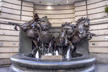 London, UK, 30 October 2012: The Horses of Helios at  Piccadilly Circus