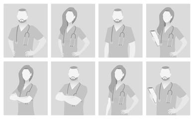 Default placeholder doctor half-length portrait
