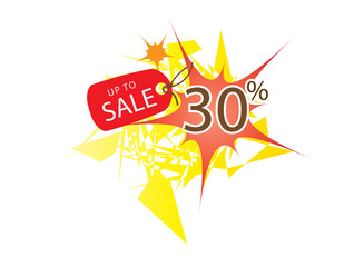 Sale banner with 30 percent discount and template illustration design. Vector EPS10