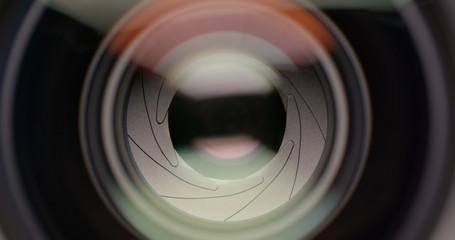 Adjusting Camera Lens aperture Iris