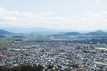 八幡山の展望館からの景色