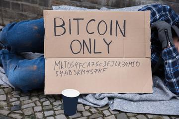 Beggar Sleeping On Street
