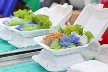 Thai streamed rice dumpling