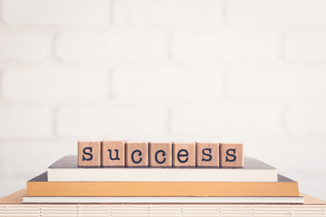 The word Success and copy space background.